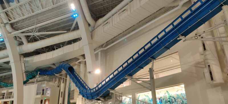 This picture shows the Toothless' Trickling Torpedo water coaster.