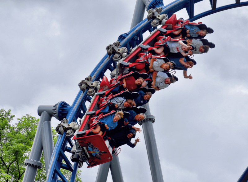 Sky Rocket is Kennywood's only launched roller coaster. It features a top hat and multiple thrilling twists and inversions.