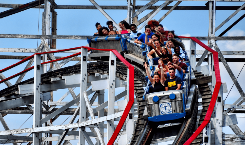 Thunderbolt is one of the three wood coasters at Kennywood. Featuring many thrilling drops and a long ride experience, Thunderbolt is a must do attraction.